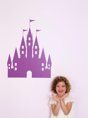 muursticker kasteel prinses