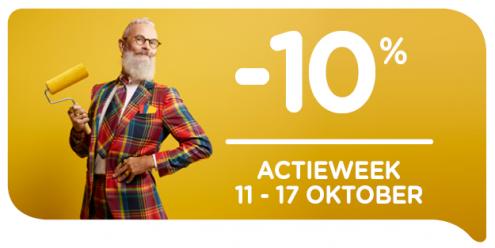 Profiteer nu van 10% korting tijdens de actieweek van 11/10 t.e.m. 17/10