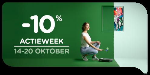Geniet tijdens de actieweek van 14 tem 20 oktober van 10% korting op het volledige assortiment