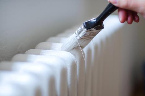 Hoe een ijzeren radiator schilderen?