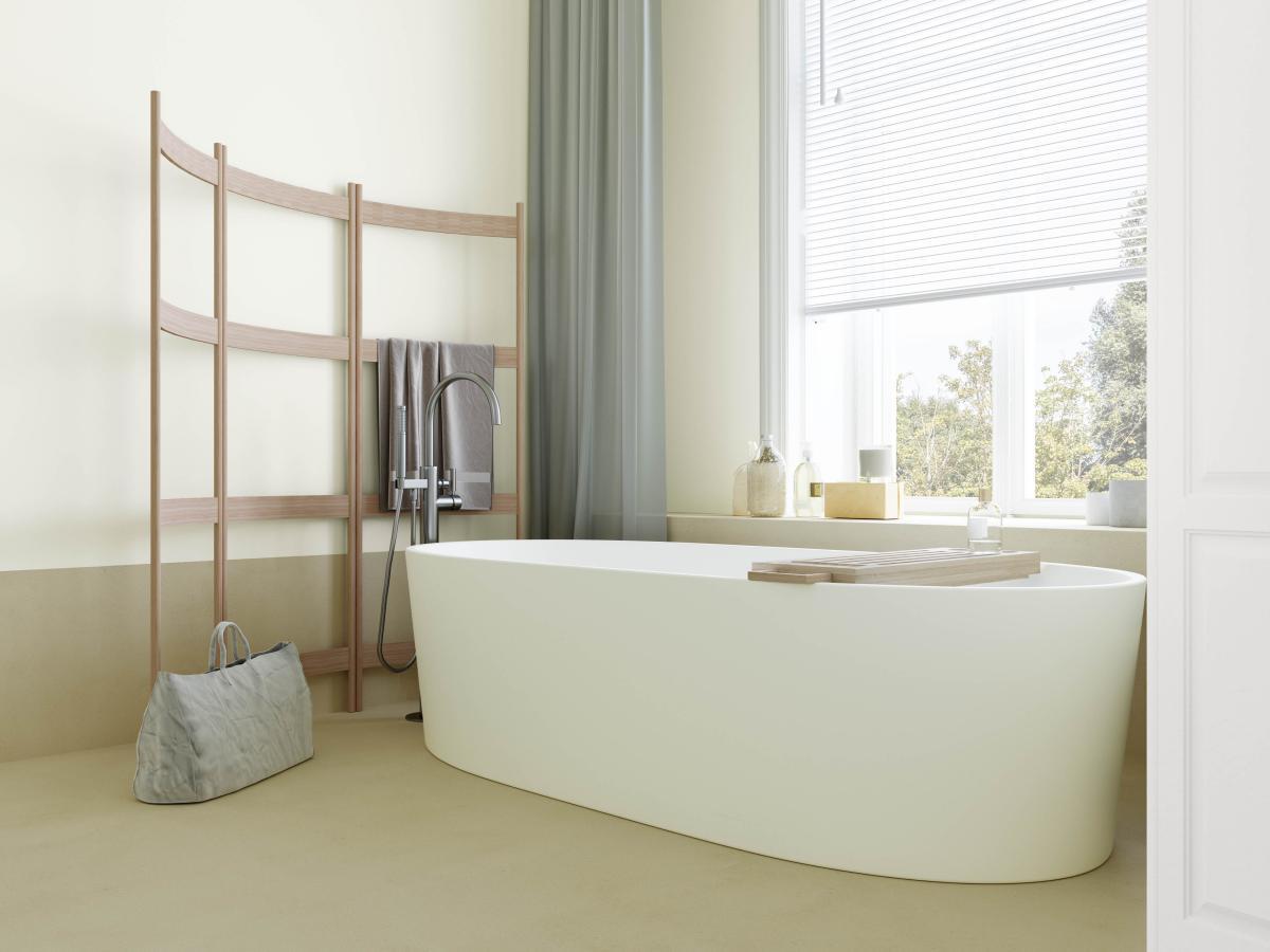 Kom volledig tot rust in deze lichtrijke maar gezellige badkamer