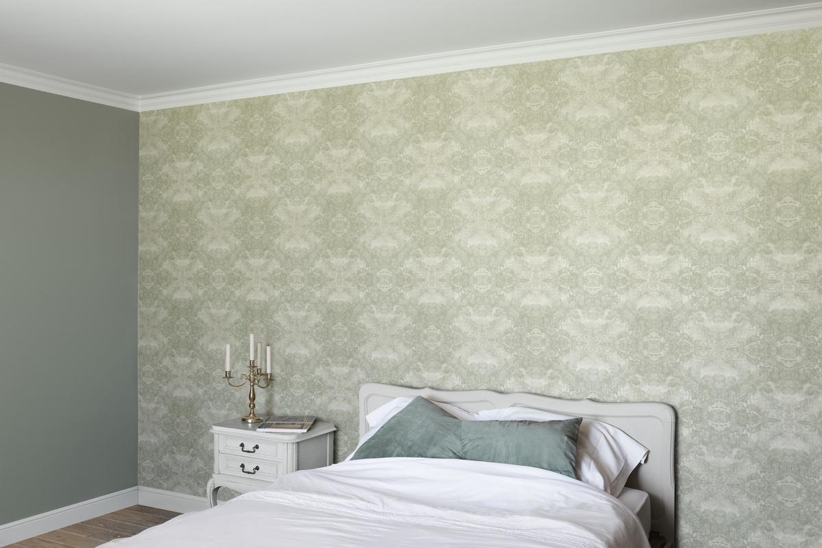 Behang je muur met soft green behangpapier