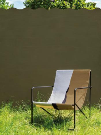 Een groene accentkleur op je tuinmuur