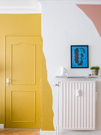 Schilder grillige vormen in leuke kleuren voor een speels effect