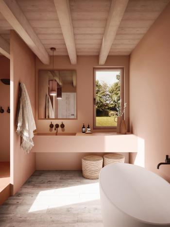Schilder je badkamer in warme verfkleuren