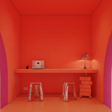 Durf te kiezen voor een explosieve kamer in één kleur