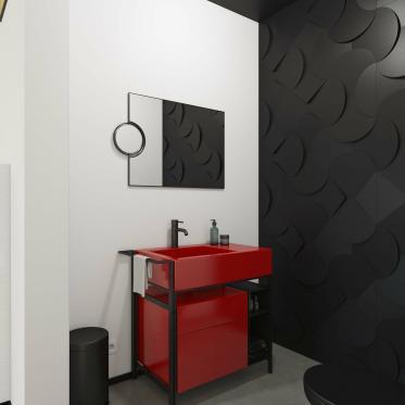 Maak een statement en combineer zwart-wit met donkerrood