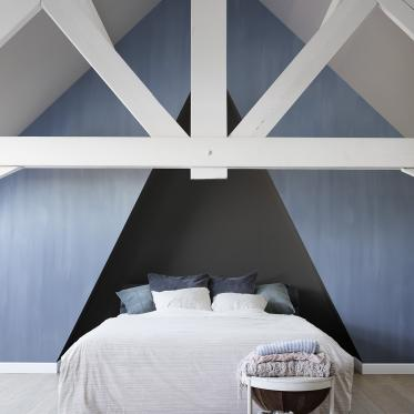 Inspiratie: schilder je muren blauw met kalkverf