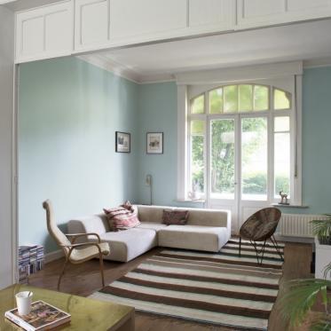 Schilder je woonkamer groen wit
