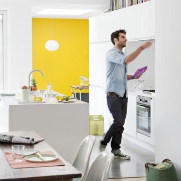Geef je muur een geel accent