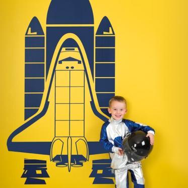 Muursticker space shuttle