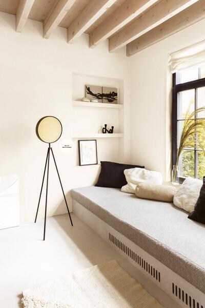 Een minimalistische sfeer in de woonkamer