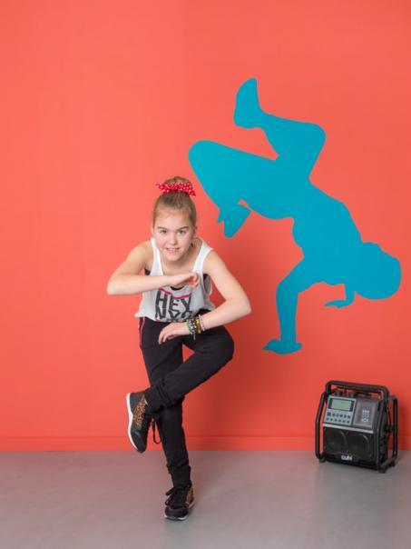 Muursticker hip hop danser