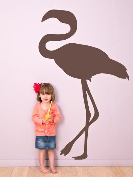 Muursticker flamingo