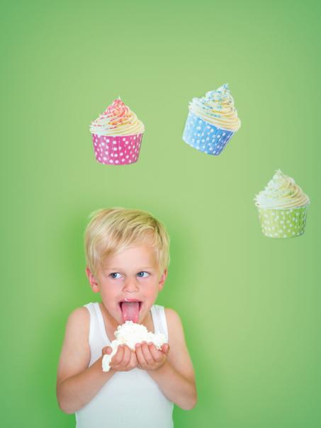 Vrolijk je muren op met de cupcake muurstickers