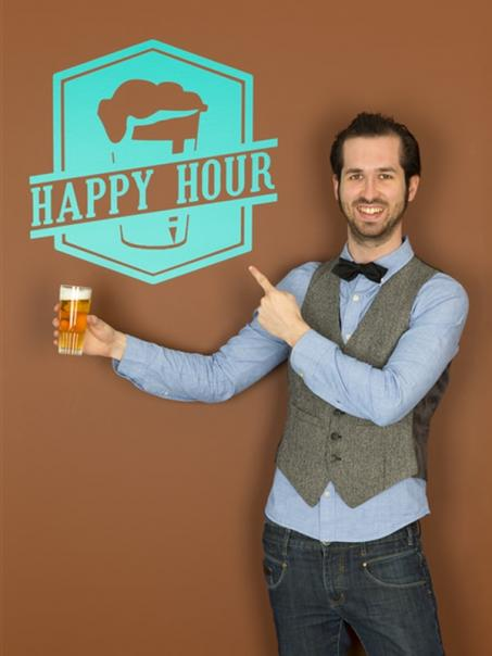 Muursticker Happy Hour