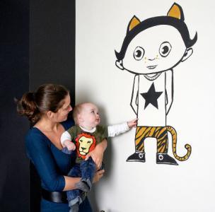 Kinderkamer ideeën: Een muurschildering in de kinderkamer