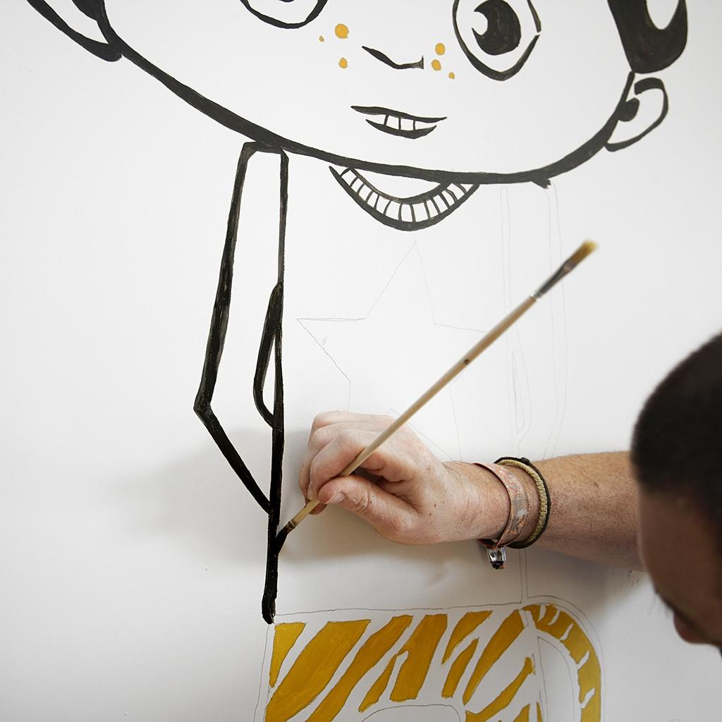Kinderkamer ideeën | Een muurschildering in de kinderkamer