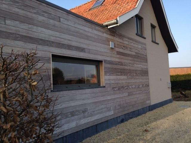 houten wand huis