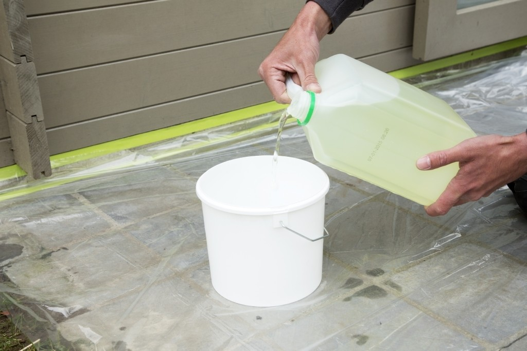 behandeling met bleekwater
